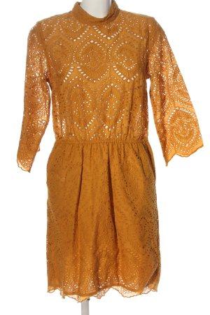 Gestuz Robe à manches longues orange clair style décontracté