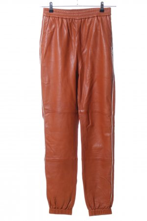 Gestuz Leren broek licht Oranje casual uitstraling