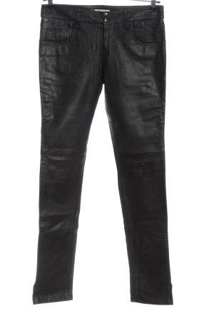 Gestuz Leren broek zwart casual uitstraling