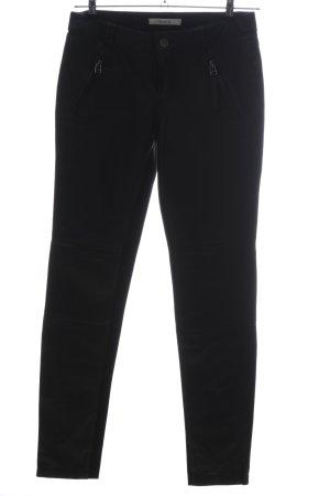 Gestuz Pantalon en cuir noir style décontracté