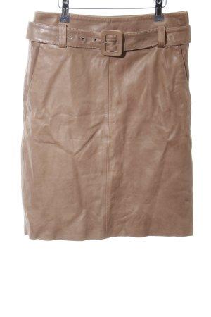 Gestuz Jupe en cuir marron clair style décontracté