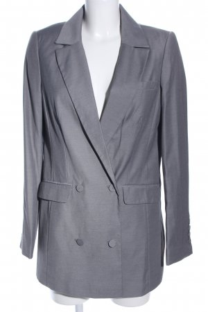 Gestuz Long-Blazer hellgrau meliert Business-Look