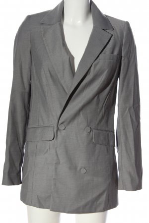 Gestuz Long-Blazer hellgrau Casual-Look