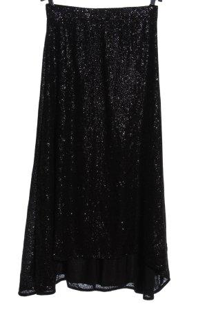 Gestuz Falda larga negro-color plata elegante
