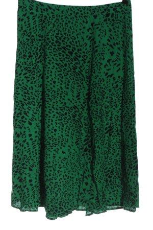 Gestuz Falda midi negro-verde estampado repetido sobre toda la superficie