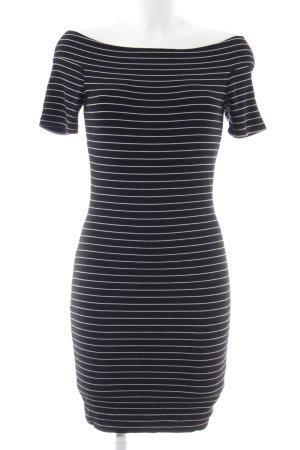 Gestuz Minikleid schwarz-weiß Streifenmuster Casual-Look