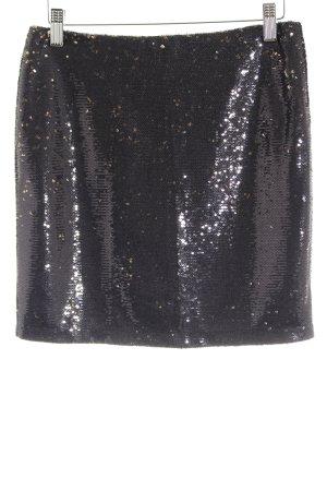 Gestuz Mini rok zwart-goud feest stijl