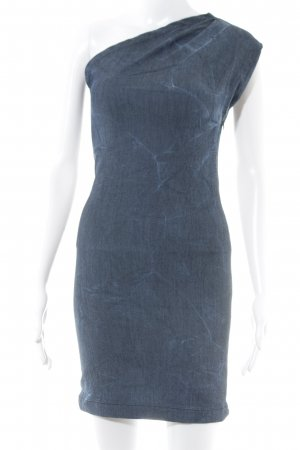 Gestuz One-Shoulder-Kleid blau