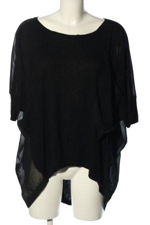 Gestuz Oversized Bluse schwarz Casual-Look