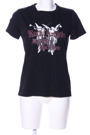 Gestuz Print-Shirt schwarz-weiß Motivdruck Casual-Look