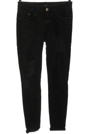 Gestuz Jeans slim noir style décontracté