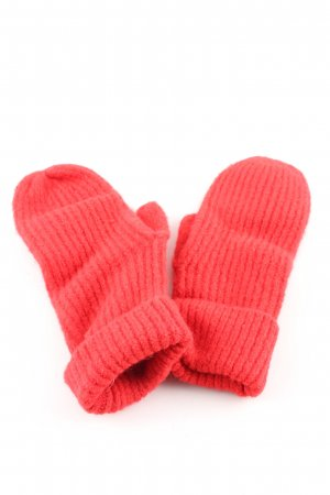Gestuz Knitted Gloves red striped pattern casual look