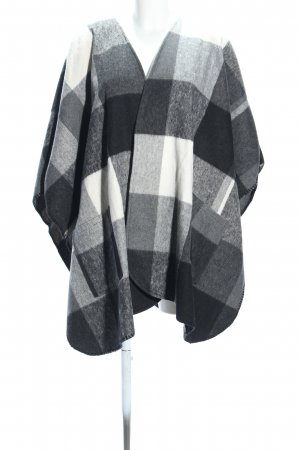 Gestuz Poncho en tricot motif à carreaux style décontracté