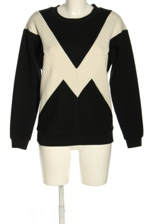 Gestuz Bluza dresowa czarny-w kolorze białej wełny W stylu casual