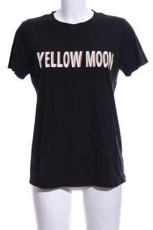Gestuz T-Shirt schwarz Schriftzug gedruckt Casual-Look