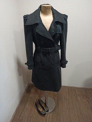 Gestuz Trenchcoat / leichter Mantel schwarz tailliert Gr. S / M