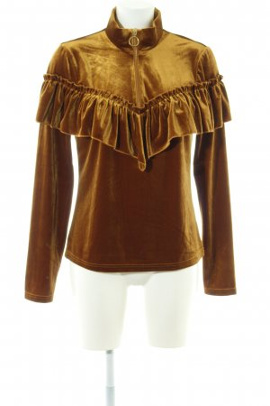 Gestuz Sailor Sweater gold-colored extravagant style