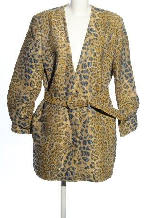 Gestuz Płaszcz przejściowy złoto-niebieski Zwierzęcy wzór W stylu casual