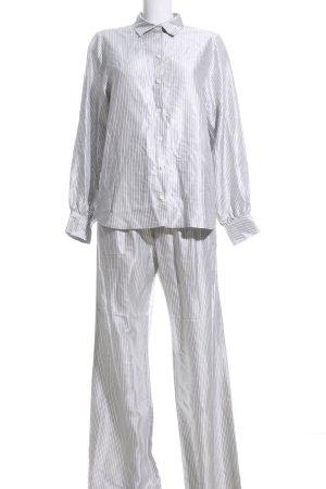Gestuz Twin Set tejido color plata-gris claro estampado a rayas look casual