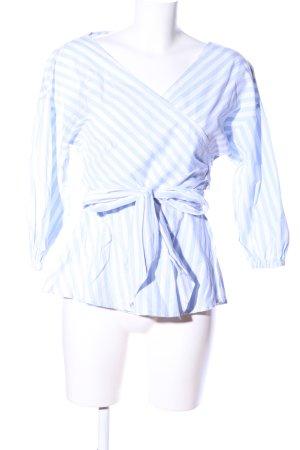 Gestuz Wickel-Bluse blau-weiß Streifenmuster Casual-Look