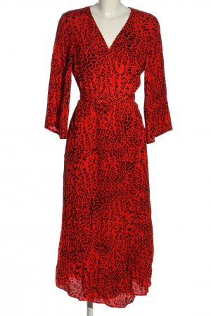 Gestuz Wickelkleid rot-schwarz Animalmuster Elegant