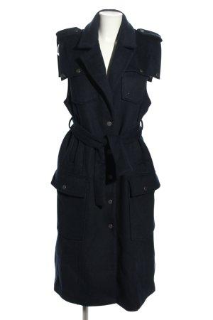 Gestuz Wełniany płaszcz niebieski W stylu casual
