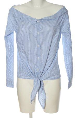 get it on Hemd-Bluse blau-weiß Allover-Druck klassischer Stil