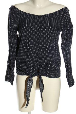 get it on Langarm-Bluse schwarz-weiß Punktemuster Casual-Look