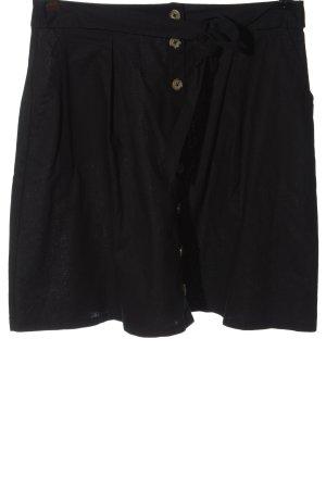 get it on Lniana spódnica czarny W stylu casual