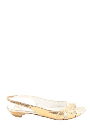 GF Ferré Riemchen-Sandaletten goldfarben Casual-Look