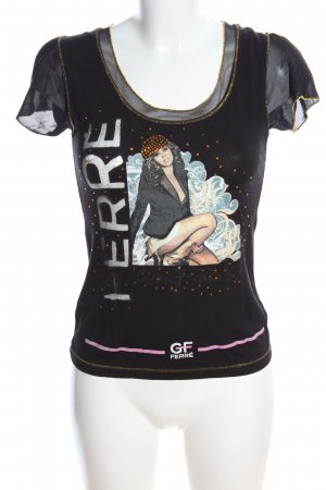 GF Ferré T-Shirt schwarz Motivdruck Casual-Look