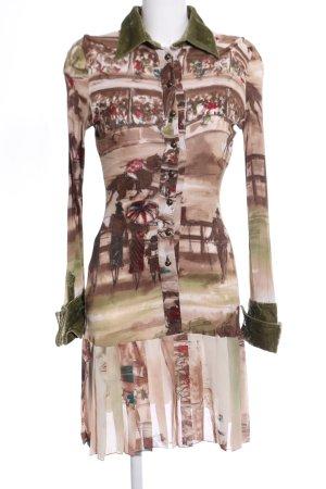 GF Ferré Robe à volants imprimé avec thème style d'affaires