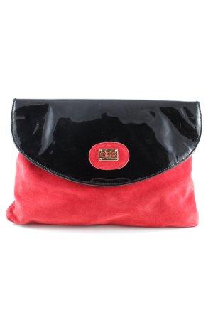 Pochette rosso-nero elegante