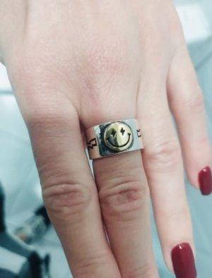 Gucci Anillo de cuentas color oro-color plata