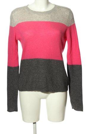 Gharani Strok Kaszmirowy sweter jasnoszary-różowy Melanżowy W stylu casual