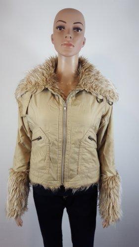 Fur Jacket sand brown