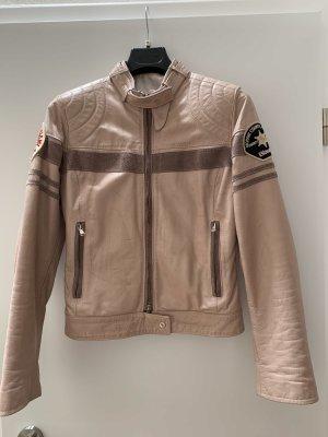 Blauer Skórzana kurtka stary róż-w kolorze różowego złota