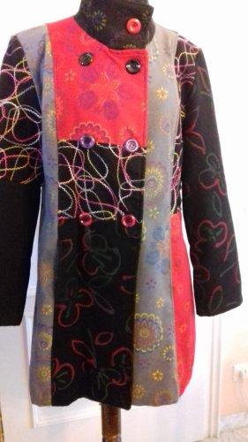Giacomo Marynarski płaszcz czarny-ciemnoczerwony