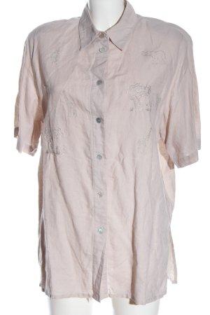 Giacosa Shirt met korte mouwen wolwit zakelijke stijl