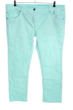 Giada Pantalone cinque tasche turchese stile casual