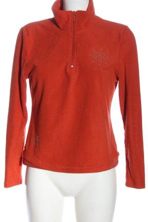 Giada Pullover in pile arancione chiaro stile casual