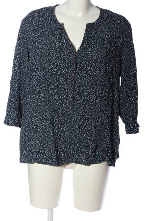 Giada Camicia blusa blu-bianco stampa integrale stile casual