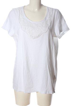 Giada Camicetta a maniche corte bianco stile casual