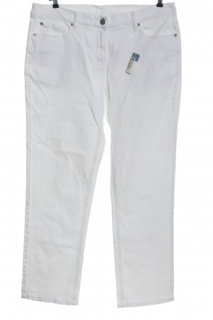 Giada Jeans a gamba dritta bianco stile casual