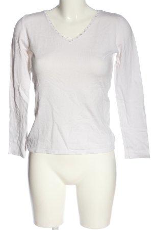 Giada Maglione lavorato a maglia bianco stile casual