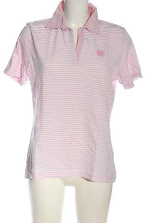 Giada T-shirt rosa-bianco motivo a righe stile casual