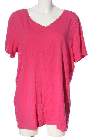 Giada Maglia con scollo a V rosa stile casual