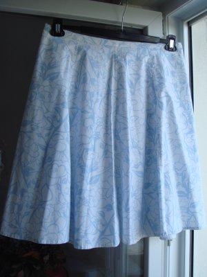 Giada Spódnica z koła szaro-zielony-biały Bawełna