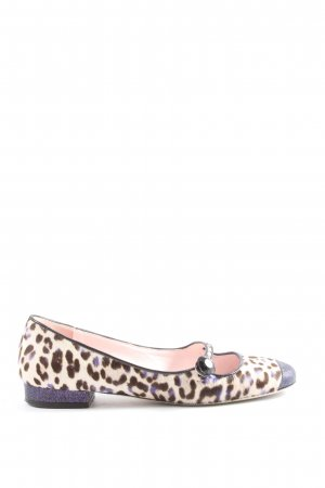 Giamba Mary Jane Ballerinas animal pattern extravagant style