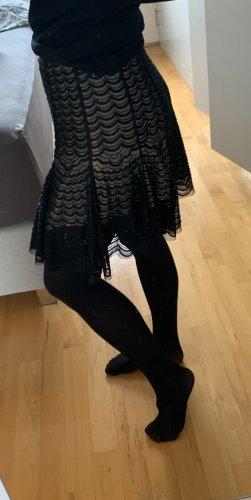 Giambattista valli Falda de encaje negro